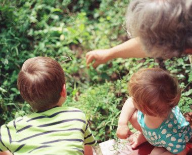 Grandma with grandchildren