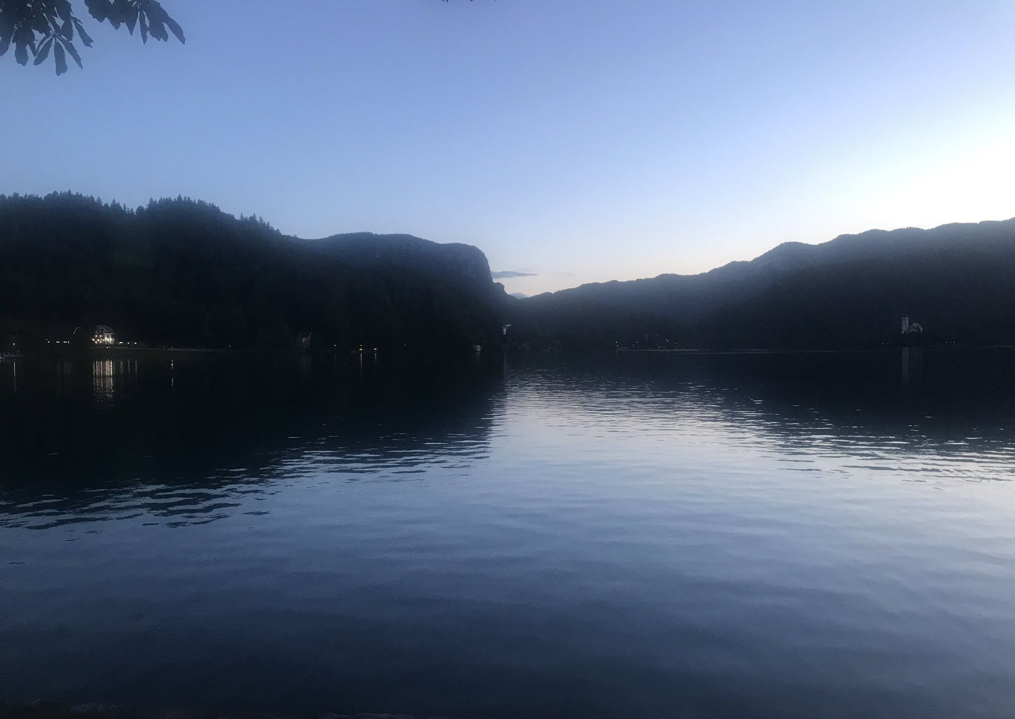 Lake Bled in the twighlight