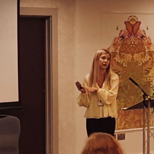Team member giving a presentation