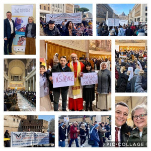 All collage of images from Garry our CEO's visit to Rome to mark St Bakhita's Day
