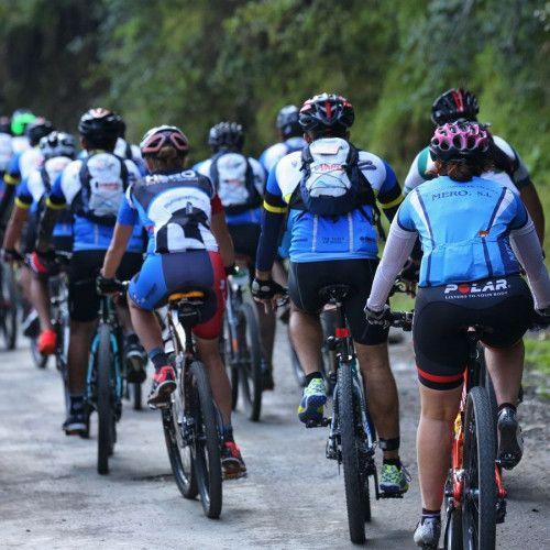 Bike ride taking place