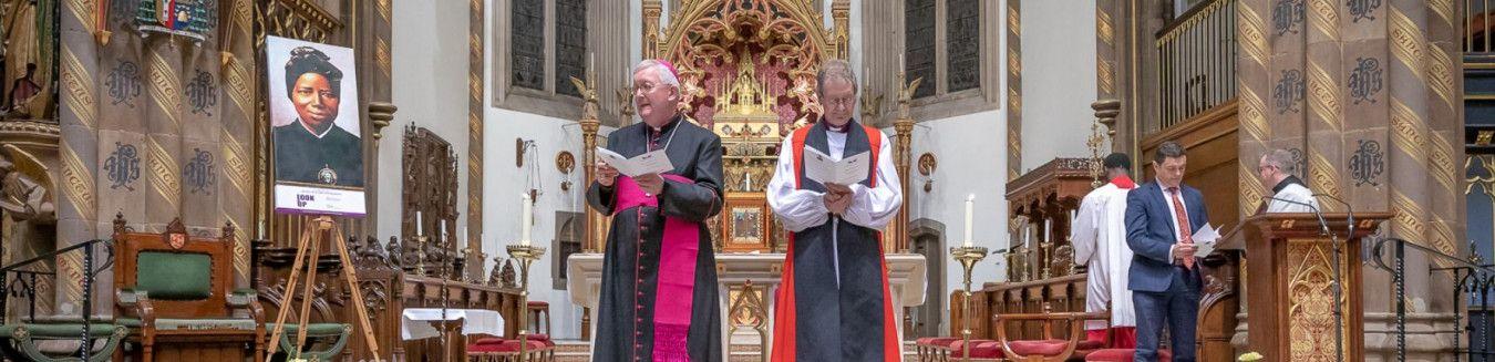 Archbishop Bernard Longley talking at the Look up project